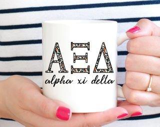 Alpha Xi Delta Leopard Mug