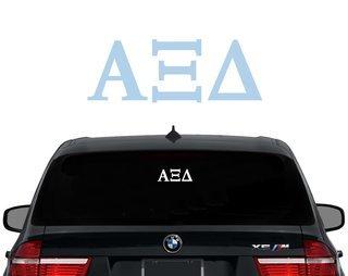 Alpha Xi Delta Letters Decal
