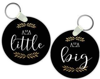 Alpha Xi Delta Lil Sister Keychain