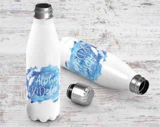 Alpha Xi Delta Logo Stainless Steel Water Bottle