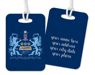 Alpha Xi Delta Crest - Shield Luggage Tag