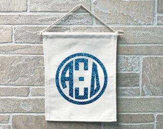 Alpha Xi Delta Monogram Banner