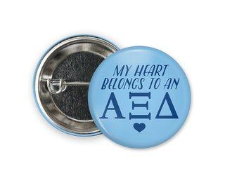 Alpha Xi Delta My Heart Belongs to a Button