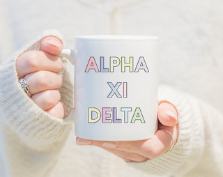 Alpha Xi Delta Pastel Mug