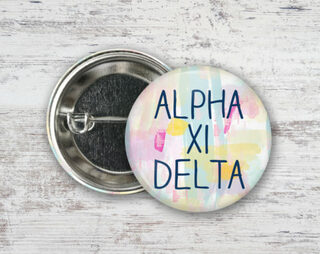 Alpha Xi Delta Pastel Strokes Button