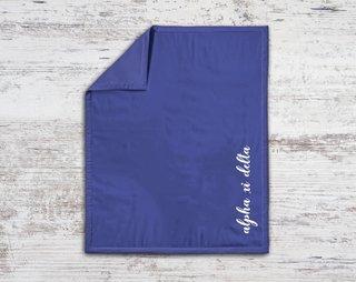 Alpha Xi Delta Script Blanket