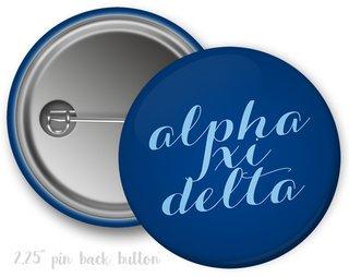 Alpha Xi Delta Script Button