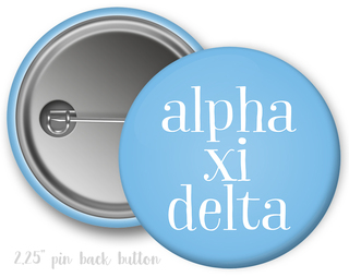Alpha Xi Delta Simple Text Button