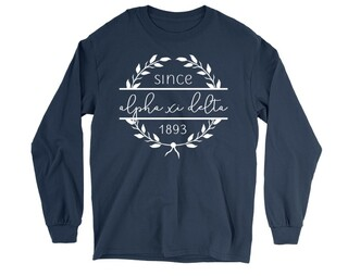 Alpha Xi Delta Since 1893 Long Sleeve