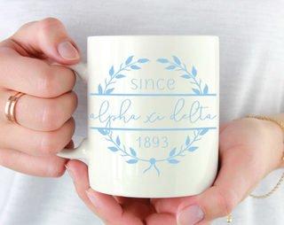 Alpha Xi Delta Since Established Coffee Mug