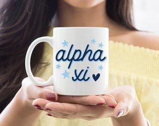 Alpha Xi Delta Star Mug