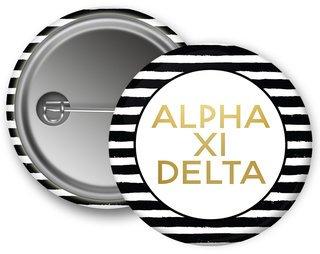 Alpha Xi Delta Striped Button