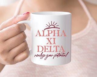 Alpha Xi Delta Sun Mug