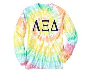 Alpha Xi Delta Tie Dye Long Sleeve