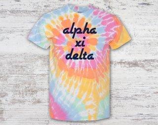 Alpha Xi Delta Tie Dye Tee