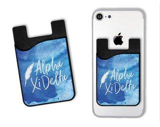 Alpha Xi Delta Watercolor Caddy Phone Wallet