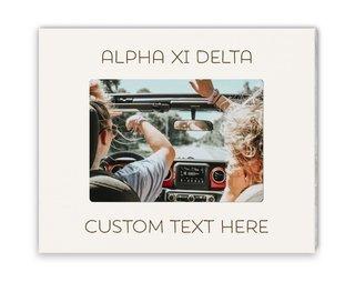 Alpha Xi Delta Whitewash Picture Frame