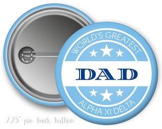 Alpha Xi Delta World's Greatest Dad Button