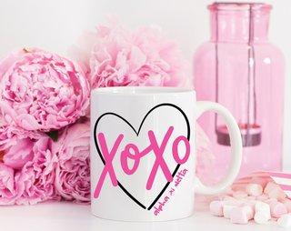 Alpha Xi Delta XOXO Mug