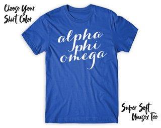 Alpha Phi Omega Script Tee