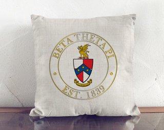Beta Theta Pi Crest Linen Pillow