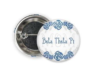 Beta Theta Pi Mom Floral Button