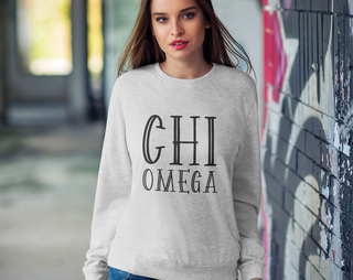 Chi Omega Inline Sweatshirt