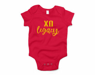 Chi Omega Legacy Baby Outfit Onesie