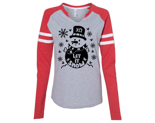 Chi Omega Let It Snow Long Sleeve Jersey