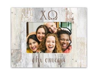 Chi Omega Letters Barnwood Picture Frame