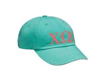 Chi Omega Letters Hat