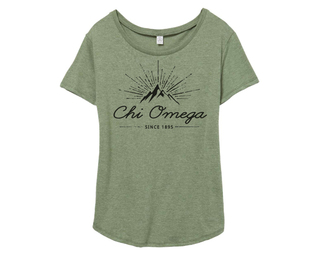 Chi Omega Mountain Backstage Tee