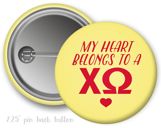 Chi Omega My Heart Belongs to a Button