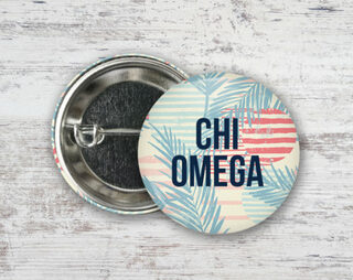 Chi Omega Paradise Found Button
