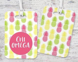Chi Omega Pineapple Luggage Tag