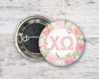 Chi Omega Pretty In Pink Button