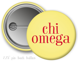 Chi Omega Simple Text Button