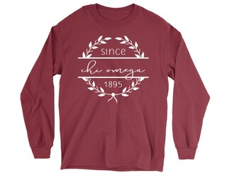 Chi Omega Since 1895 Long Sleeve