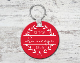 Chi Omega Since Established Keyring