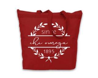 Chi Omega Since Established Tote bag