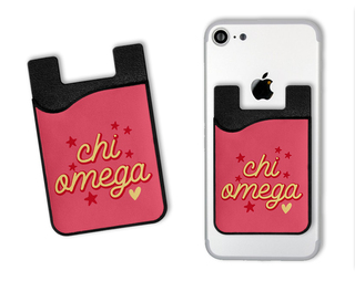 Chi Omega Star Card Caddy