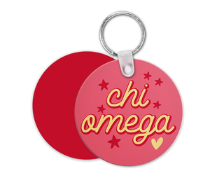 Chi Omega Star Key Chain