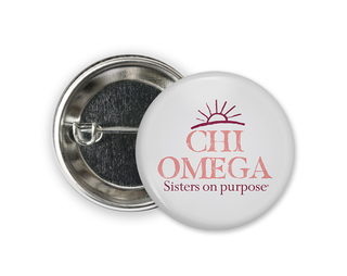 Chi Omega Sun Button
