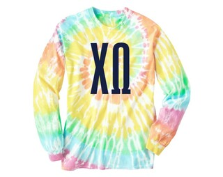 Chi Omega Tie Dye Long Sleeve