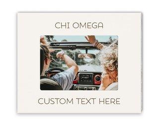 Chi Omega Whitewash Picture Frame