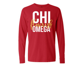 Chi Omega Flourish Long Sleeve