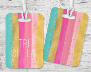 Delta Delta Delta Bright Stripes Luggage Tag