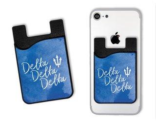 Delta Delta Delta Watercolor Caddy Phone Wallet