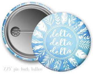 Delta Delta Delta Feathers Button