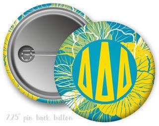 Delta Delta Delta Floral Button